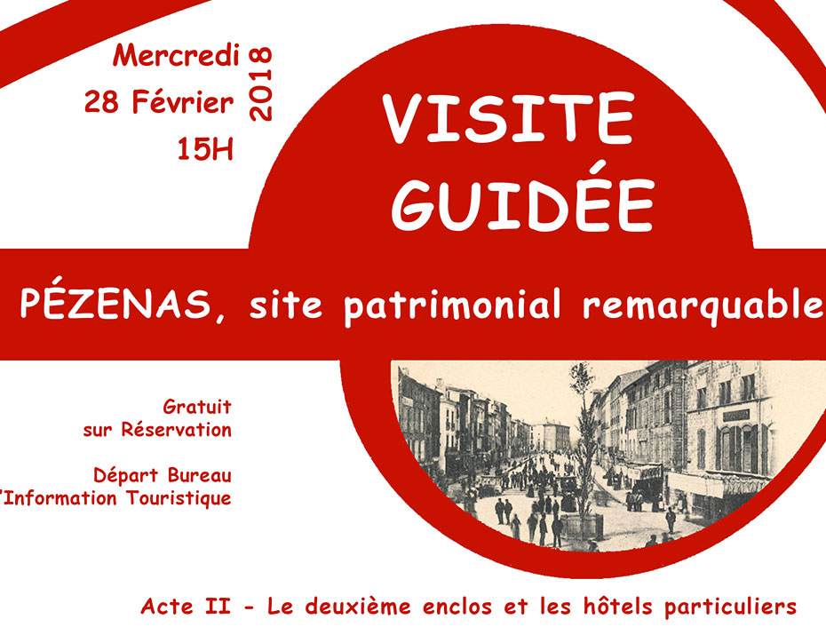 Découverte de  Pézenas avec le Pôle Patrimoine de l'Office de tourisme Cap d'Agde Méditerranée