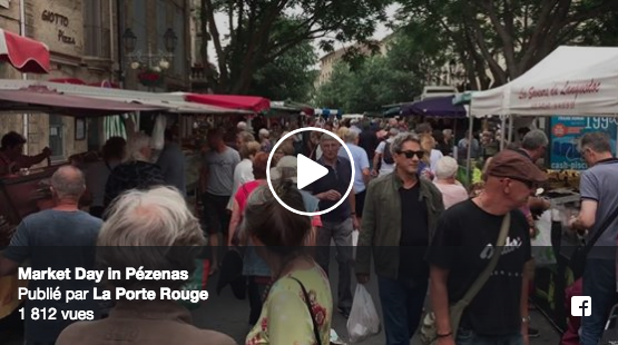Market day in Pezenas, one of the best in Languedoc region